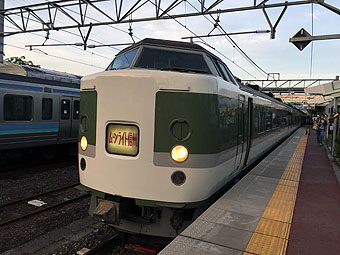 "JR overnight train ""Rapid Moonlight Shinshu 81th"""