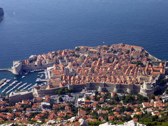 The view of Dubrovnik from Mount Srđ