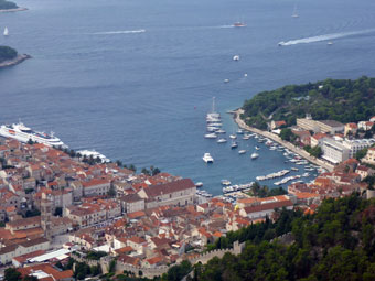 The view from Napoleon Fortress, Hvar Island