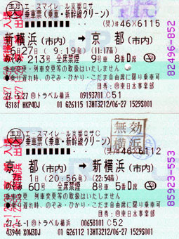 JR Shinkansen tickets