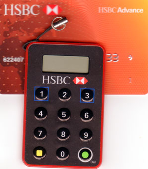 HSBC Advance ATM Card and Security Device